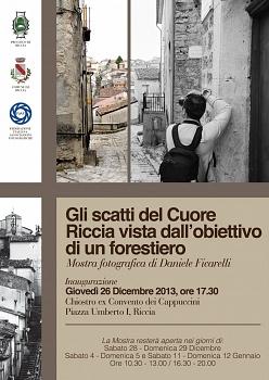 """""""Personale"""" GLI  SCATTI  DEL  CUORE - Riccia  vista  dall'obiettivo  di  un  forestiero - Riconoscimento FIAF: K04/2013"""