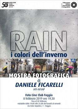 """Personale """"RAIN-i colori dell'inverno"""" - Ric. FIAF: S5/2019"""