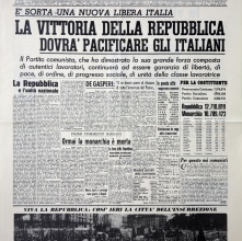 2 Giugno 1946 a 2 Giugno 2021 Festa della Repubblica