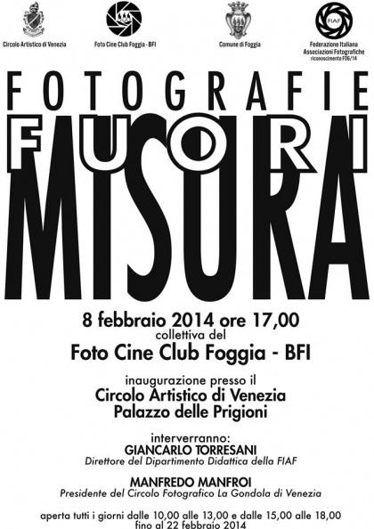 Fotografie FUORI  MISURA Riconoscimento FIAF: F 06/14